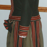 Garment as seen from side.